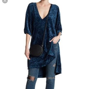Free people luxe crushed velvet tunic